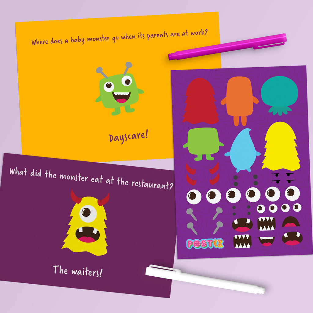 Monster Maker A6 Sticker Sheet
