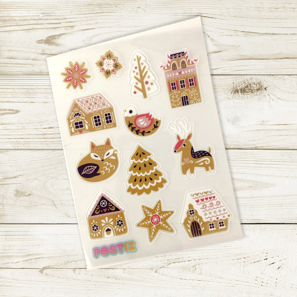 Nordic Gingerbread A6 Sticker Sheet