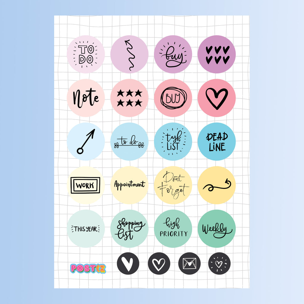 Ombre Planner Eco-Friendly A6 Sticker Sheet