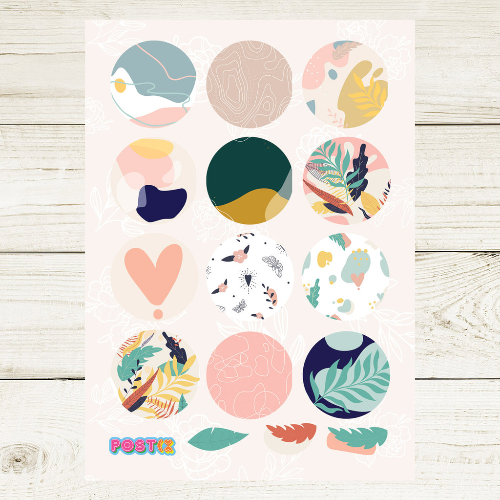 Abstract Nature A6 Sticker Sheet