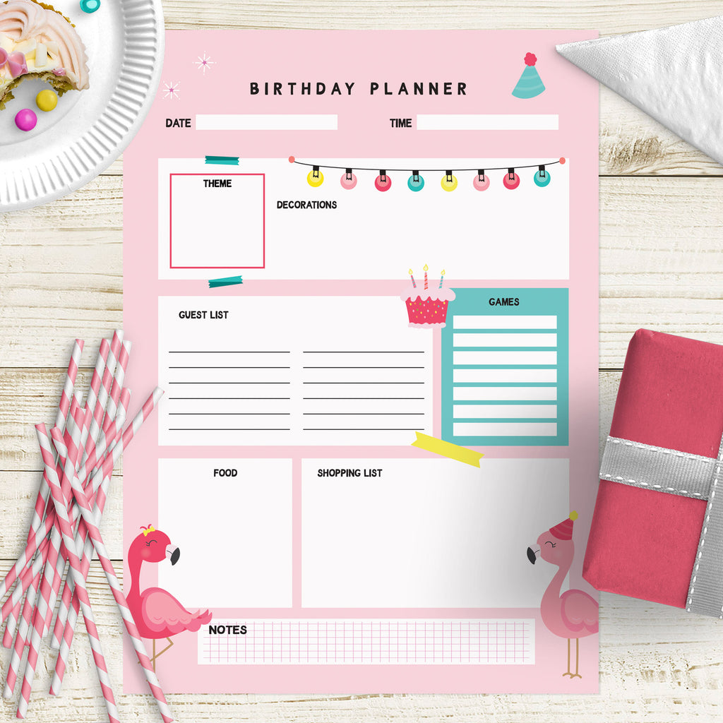 Birthday Planner A4 PDF Download