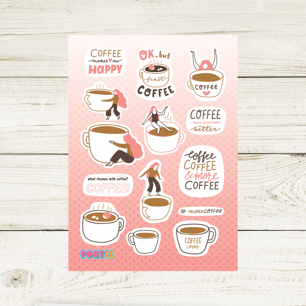 But First Coffee A7 Sticker Sheet