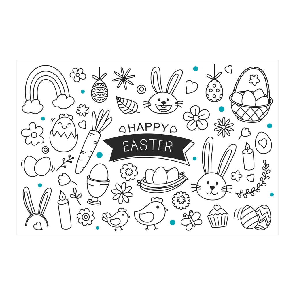 Easter Colouring In Sheet A4 PDF Download