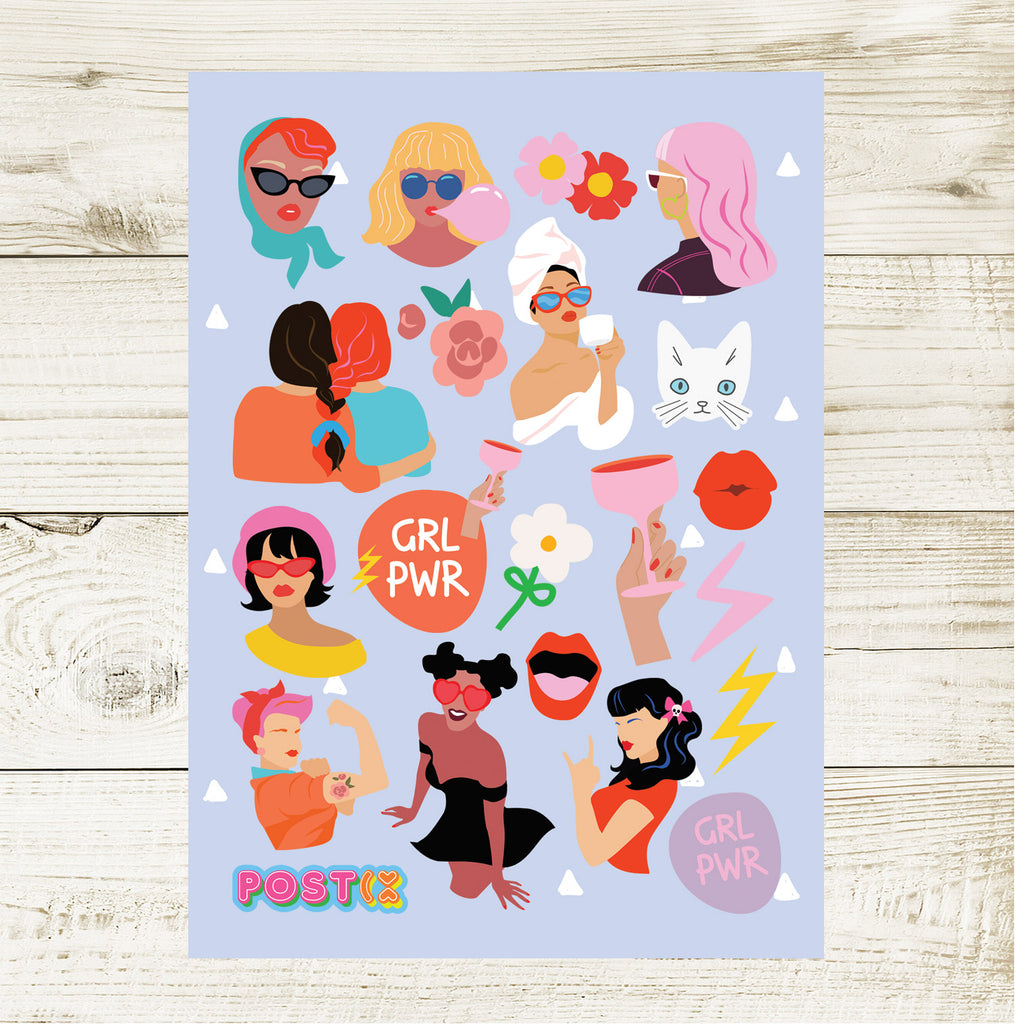 GRL PWR A6 Sticker Sheet