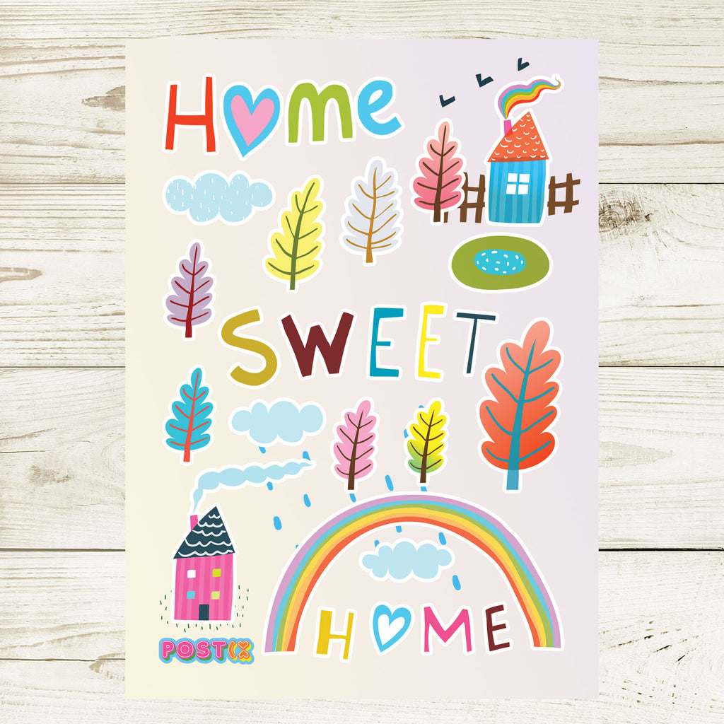 Home Sweet Home A6 Sticker Sheet