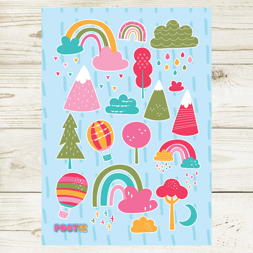 Bright Outdoor Fun A6 Sticker Sheet
