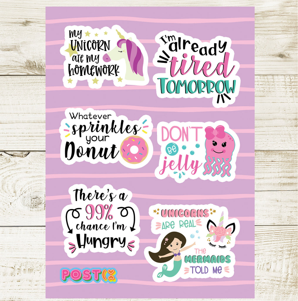 Cheeky Pieces A6 Sticker Sheet