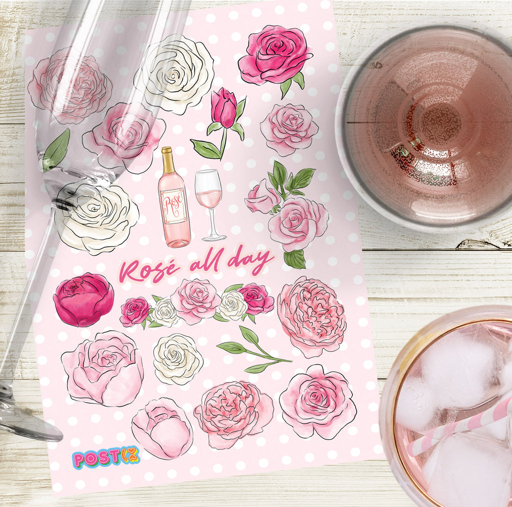 Rosé All Day Eco-Friendly A6 Sticker Sheet