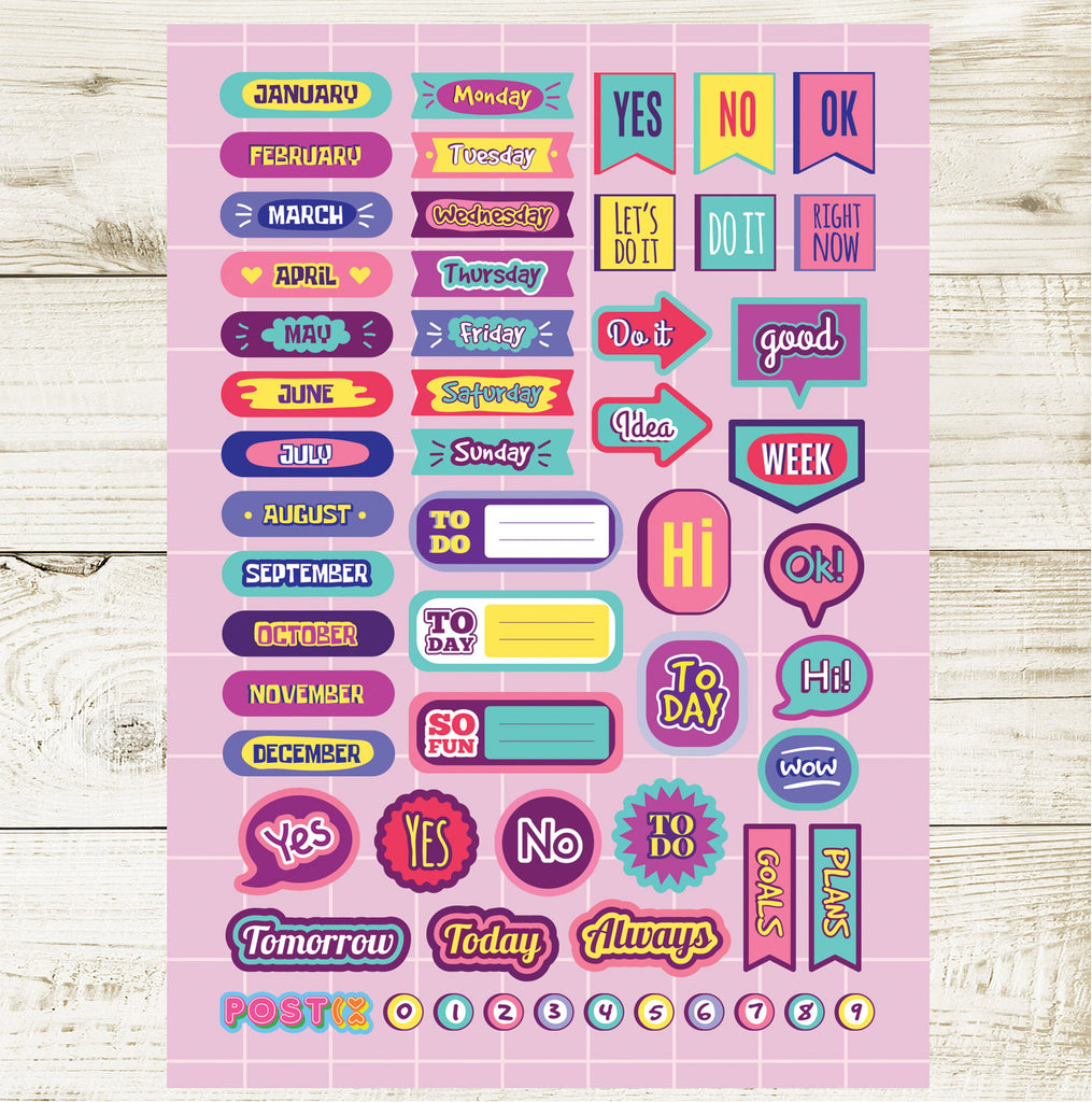 Tweenage Plans A6 Sticker Sheet