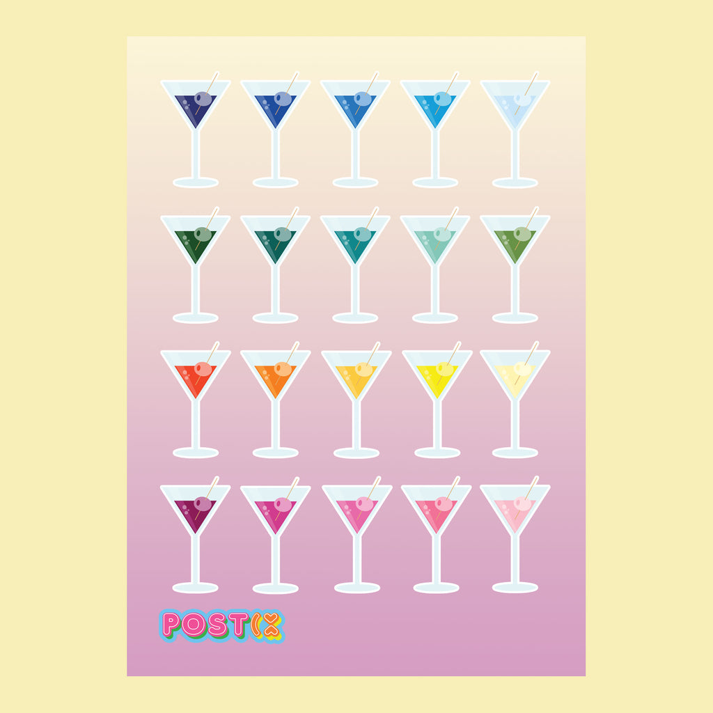 Rainbowtini Eco-Friendly A6 Sticker Sheet