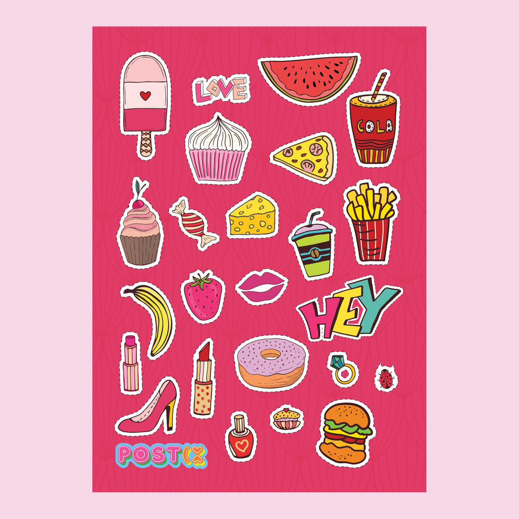 Pop Art Patches A6 Sticker Sheet