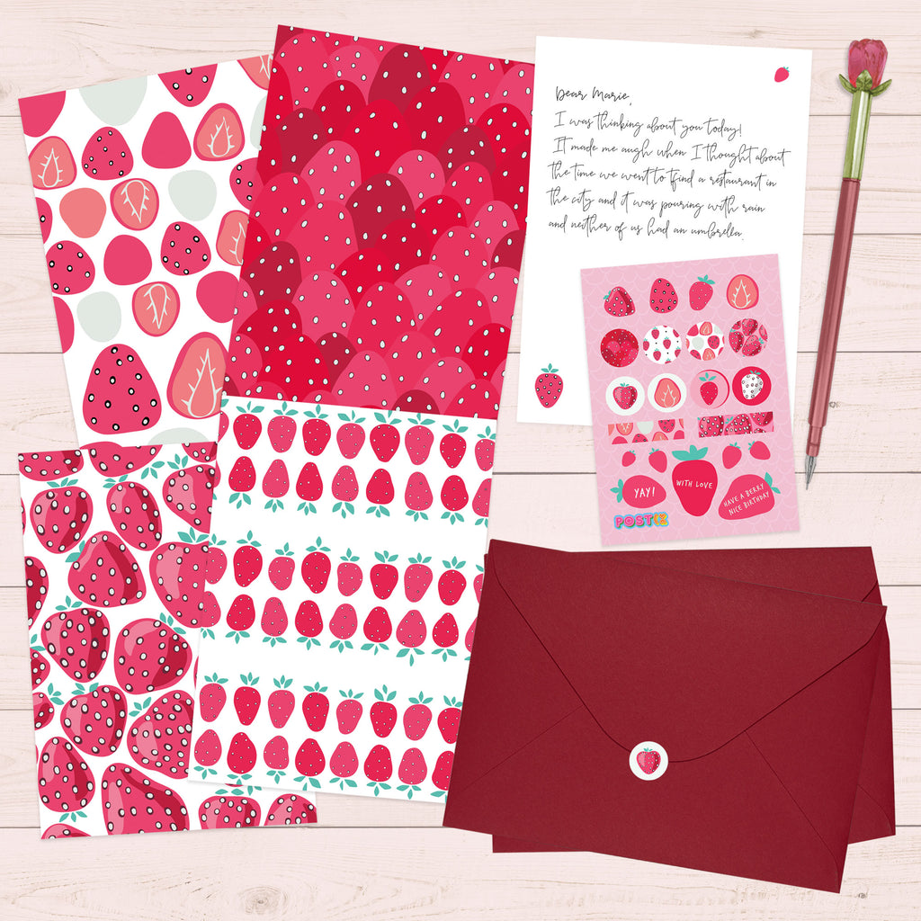 Strawberry Nice Eco-Friendly Writing Set