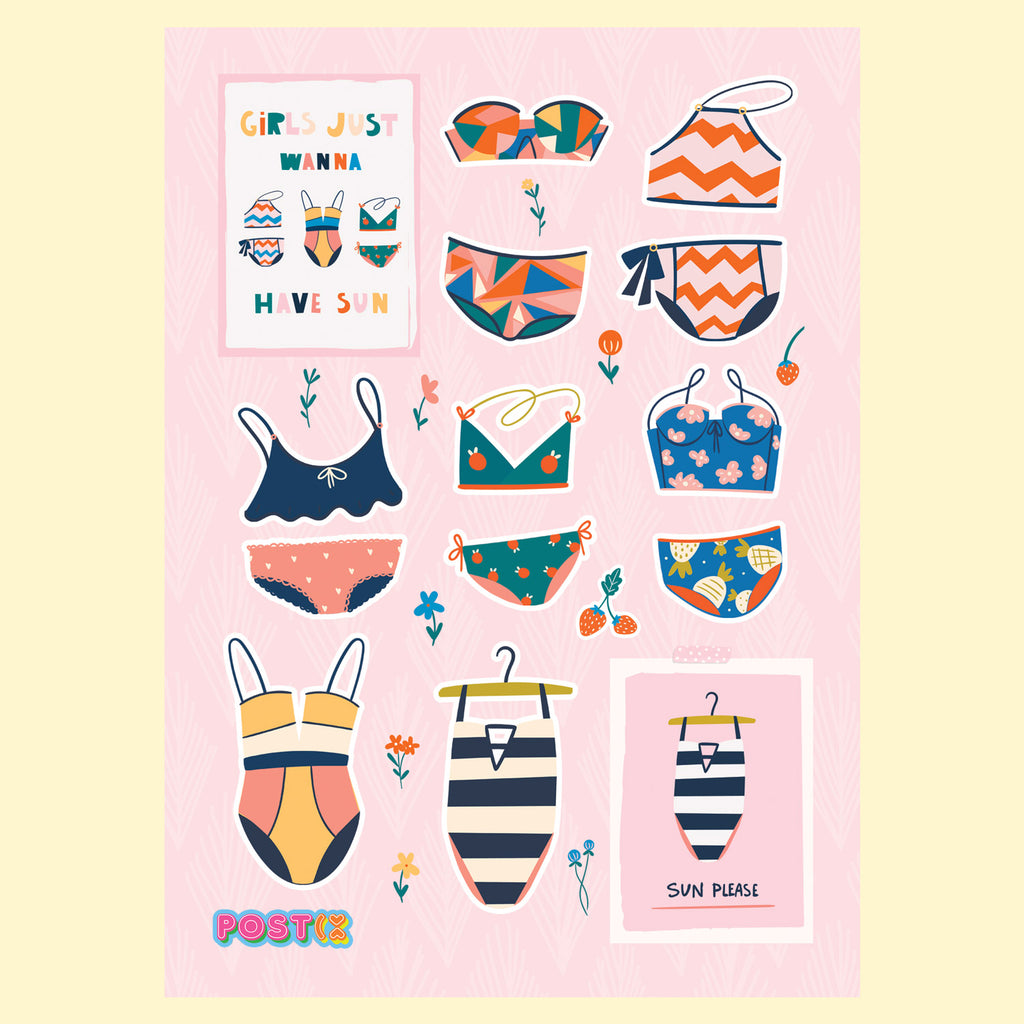 Swimwear Style A6 Sticker Sheet