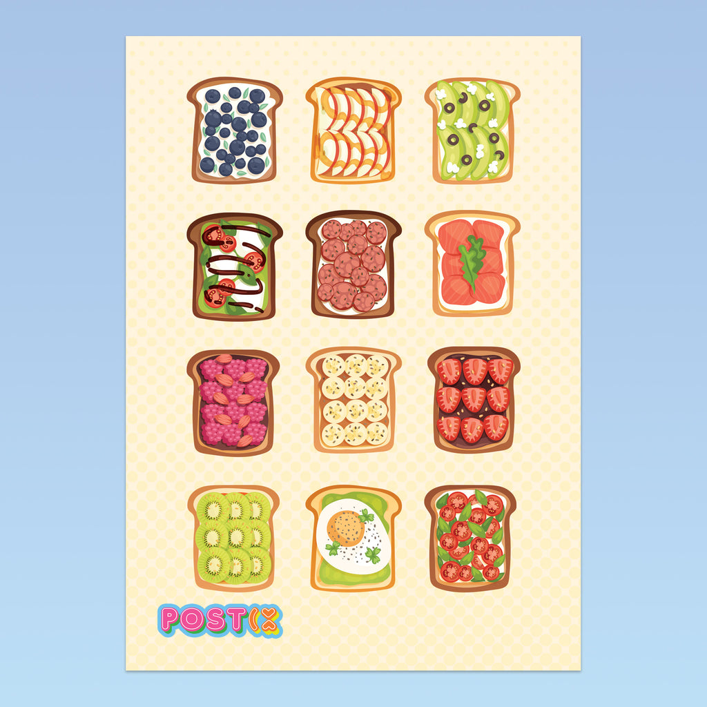 Toasty Treats A6 Sticker Sheet