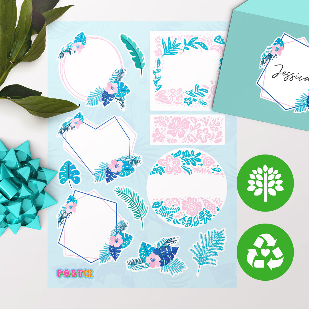 Tropical Days Eco-Friendly A5 Sticker Labels