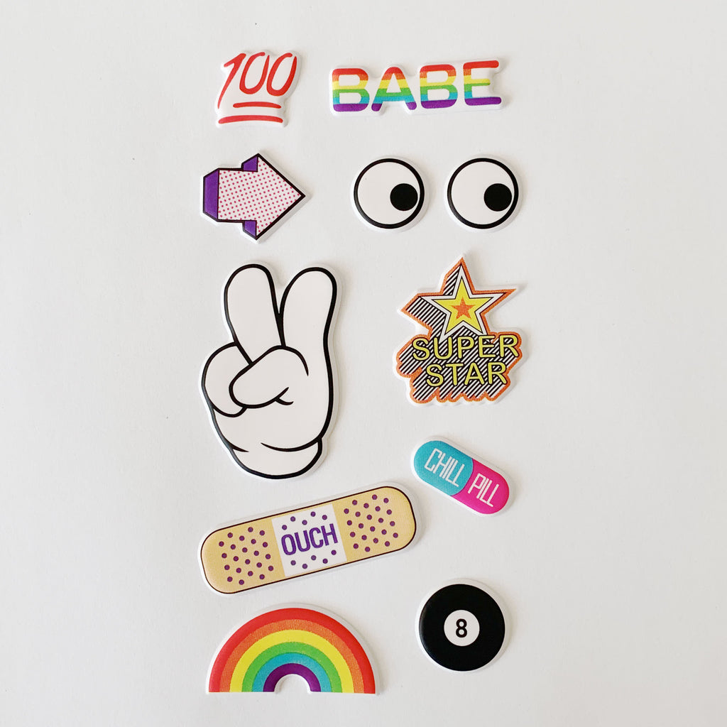Tween Vibes 3D Sticker Sheet