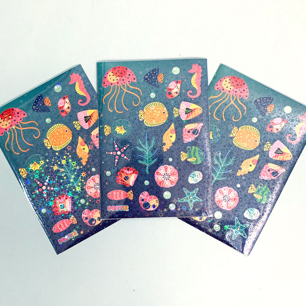 Underwater Magic Hologram A6 Sticker Sheet