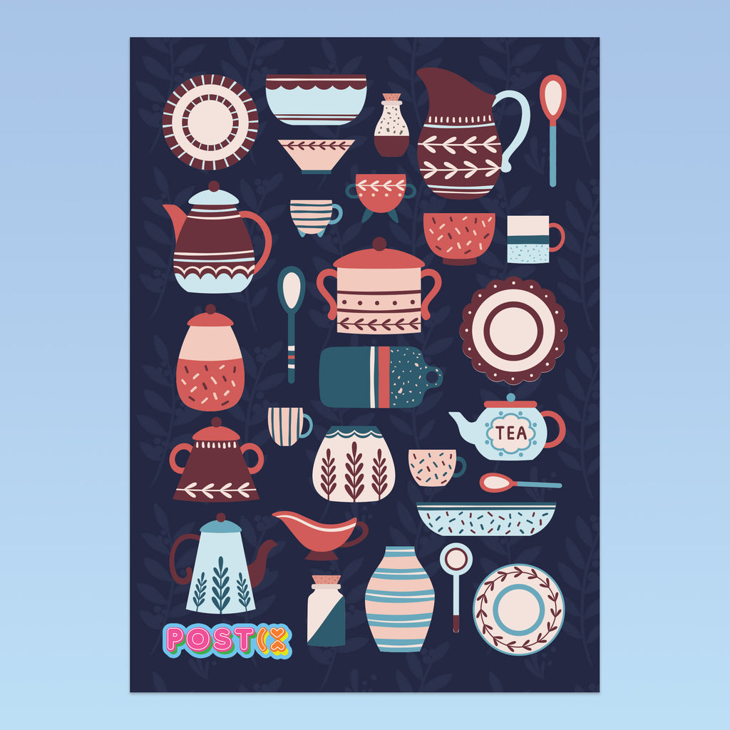 Vintage Kitchen A6 Sticker Sheet