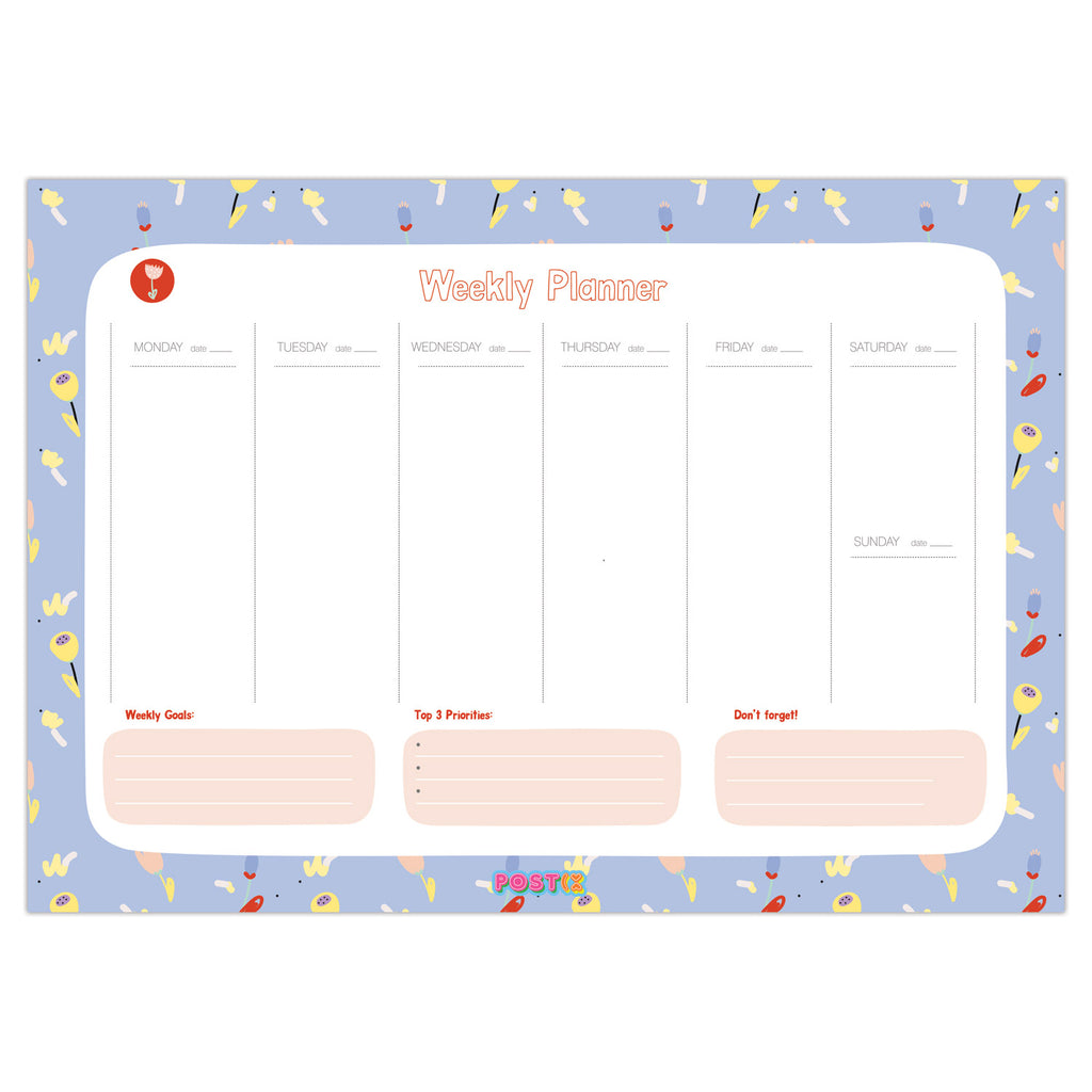 Floral Weekly A4 Planner PDF Download