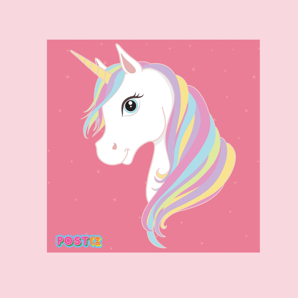 Magic Unicorn Square Sticker Sheet