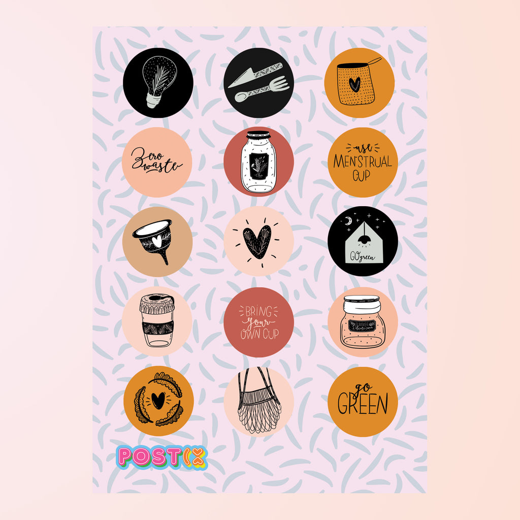 Zero Waste Eco-Friendly A6 Sticker Sheet