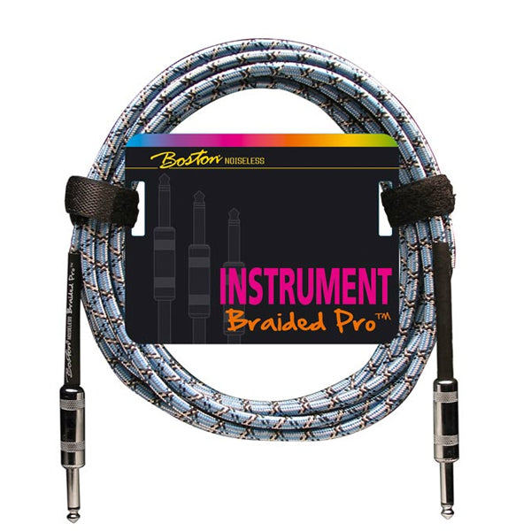 Boston Braided Pro Instrument Cable 3 m - Vintage Blue
