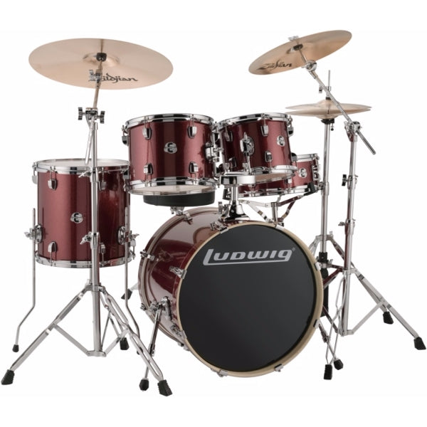 "Ludwig Element Evolution 20"" inkl. hardware - Red Sparkle"