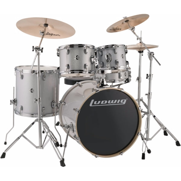 "Ludwig Element Evolution 20"" inkl. hardware - Silver White Sparkle"