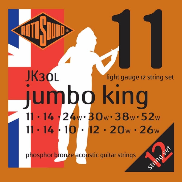 Rotosound JK30L Jumbo King Acoustic 12-str - Light 11-52