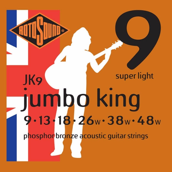 Rotosound JK9 Jumbo King Acoustic - Super Light 9-48
