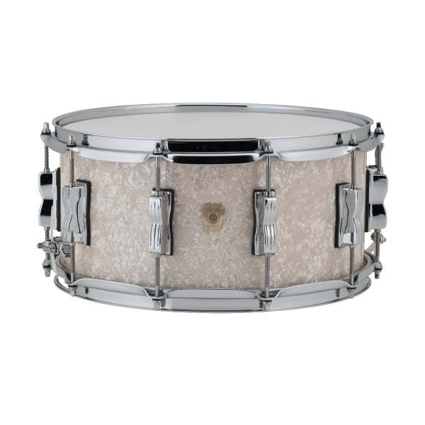 "Ludwig LS403 Classic Maple Snare 14x6.5"" - Vintage White Marine"
