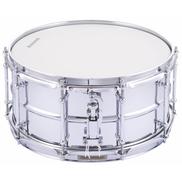 "Ludwig LW6514SL Supralite 14x6.5"" - Polished Steel Snare Drum"
