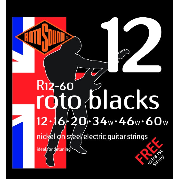 Rotosound R12-60 Roto Blacks - Custom 12-60