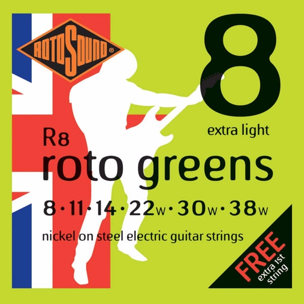 Rotosound R8 Roto Greens - Extra Light 8-38
