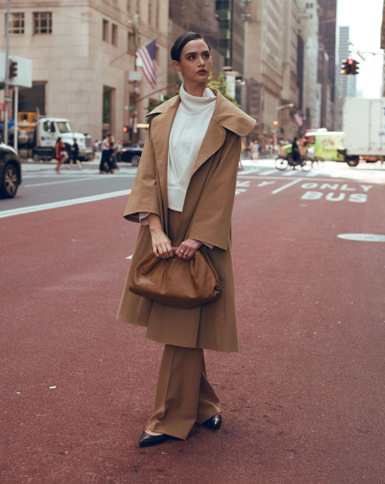 Twill Cape Collar Trench Coat - OOTD NEW YORK 10