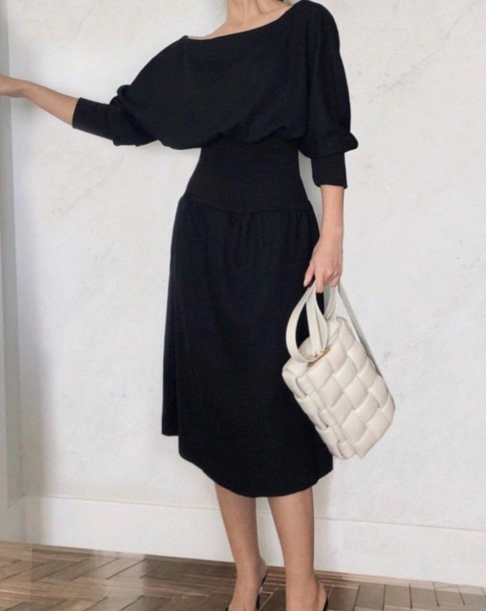 [NEW] Puff-sleeve Elastic Waist Dress - OOTD NEW YORK 10