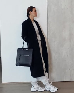 [LIMITED EDITION] Oversized Single Breasted Wool Cashmere Coat