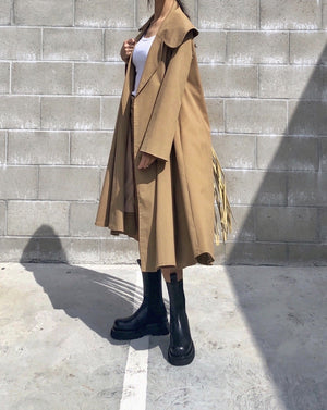 [LIMITED EDITION] Twill Cape Collar Trench Coat