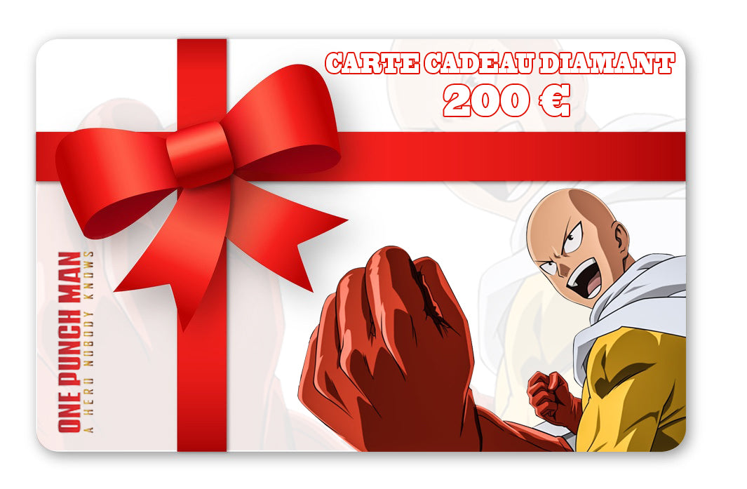 carte cadeau one punch man Saitama