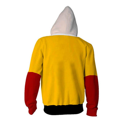 Veste One Punch Man Saitama Jaune & Rouge dos