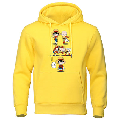 sweat one punch man saitama luffy jaune