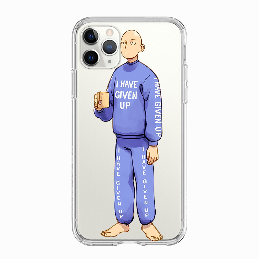 Coque One Punch Man iPhone Saitama thé