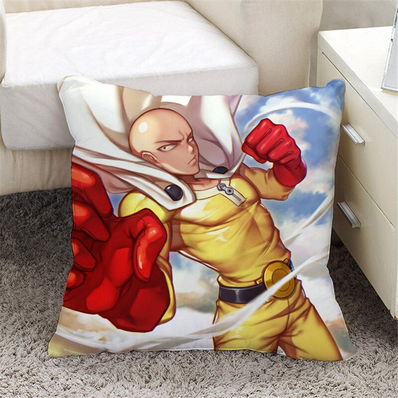 Taies d'Oreiller One Punch Man Saitama Coup de poing