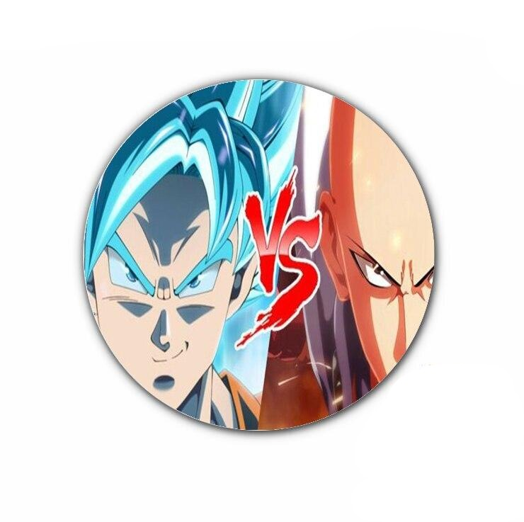 Pin's One punch man Saitama vs Goku SSJ Bleu