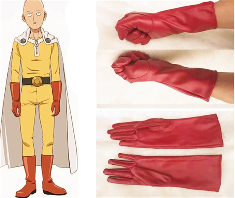 Gants Cuir Cosplay One Punch Man Saitama
