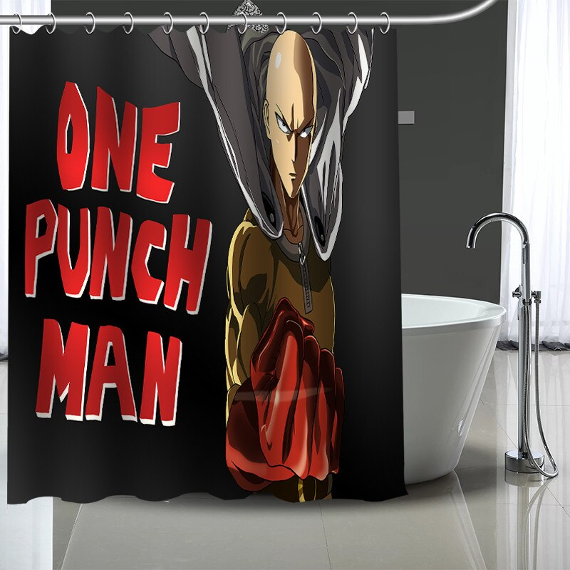 Rideau de douche One Punch Man Saitama Super Héro