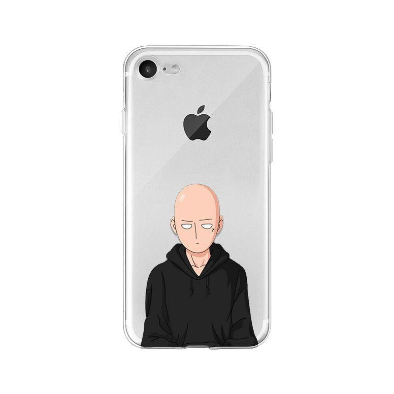 Coque One Punch Man iPhone Saitama Sweat Noir