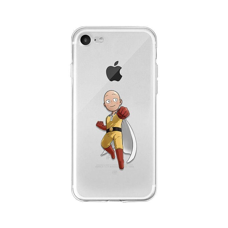Coque transparente One Punch Man iPhone Saitama Punch