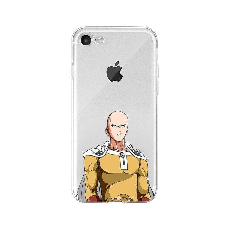 Coque One Punch Man iPhone Saitama Concentré