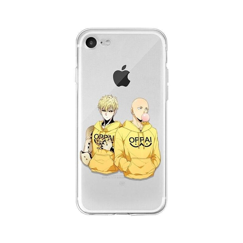 Coque One Punch Man iPhone Saitama Genos Oppai